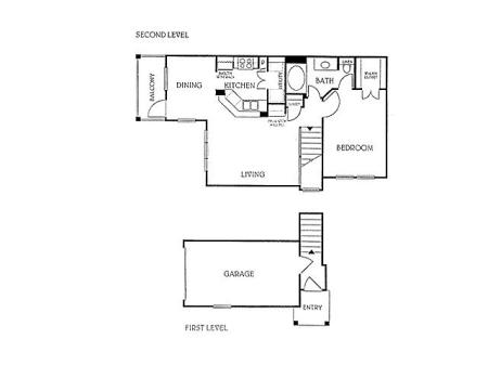 1BD 1BA 2nd Floor (A1)
