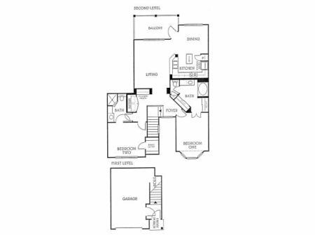 2BD 2BA 2nd Floor (B3)