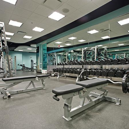State-of-the-Art Fitness Center | The Streeter Luxury Apartments
