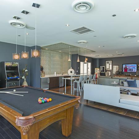 Resident Billiards Table | The Streeter Luxury Apartments
