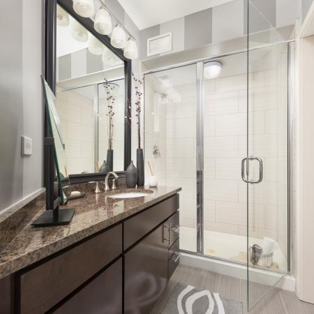 Ornate Bathroom | The Streeter Luxury Apartments