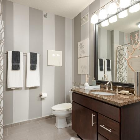 Pristine Master Bathroom | The Streeter Luxury Apartments