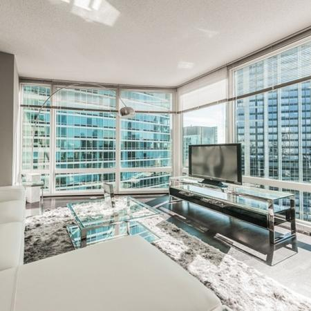 Luxurious Living Room | The Streeter Luxury Apartments