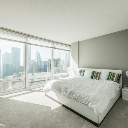 Elegant Bedroom | The Streeter Luxury Apartments