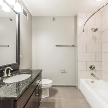 Elegant Bathroom | The Streeter Luxury Apartments