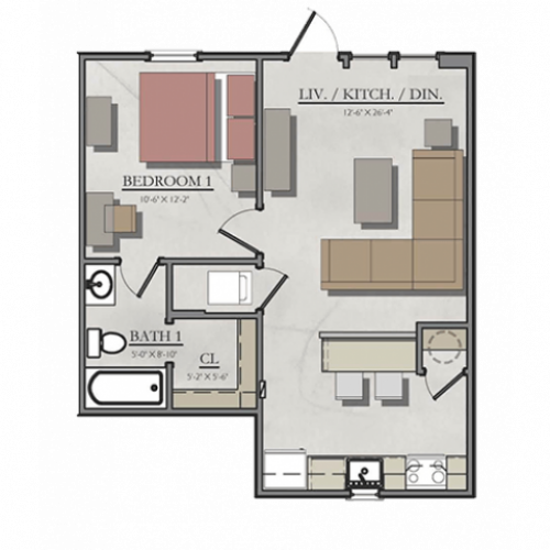 One Bedroom Apartments College Station: Four Bedroom Duplex