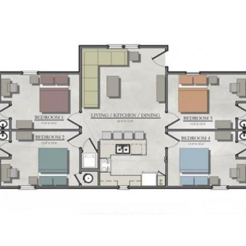 One Bedroom Apartments College Station: One Bedroom Cottage