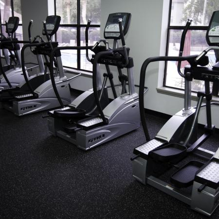 Treadmills in the fitness gym at The Pavilion on 62nd