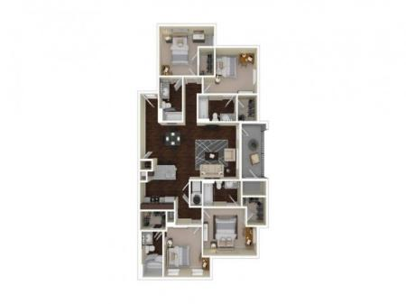 D4R   4 bed 4 bath   from 1492 square feet