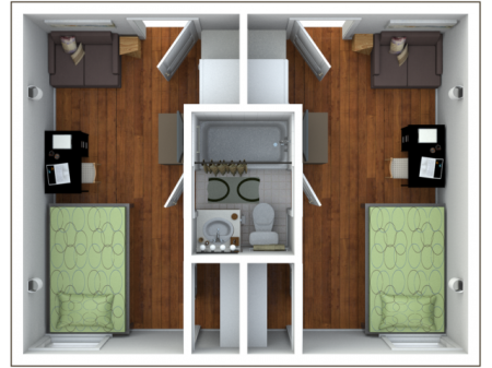 Franklin   2 bed 1 bath   from 480 square feet