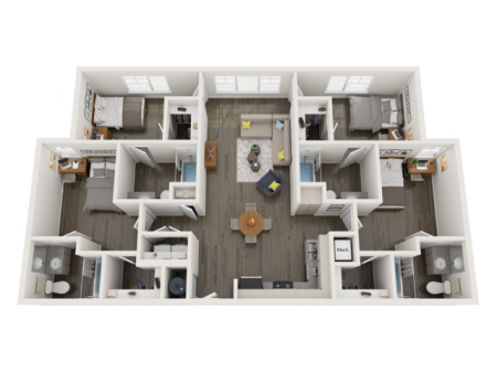 D2 | 4 bed 4 bath | from 1449 square feet