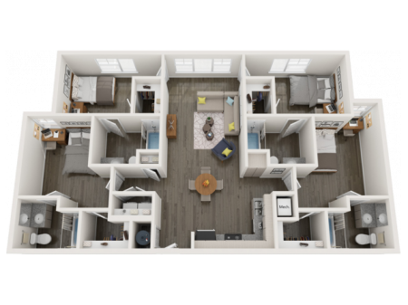 D2.3 | 4 bed 4 bath | from 1457 square feet