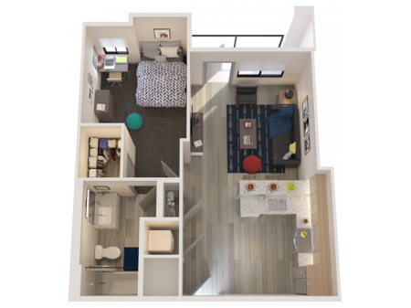 A1   1 bed 1 bath   from 658 square feet