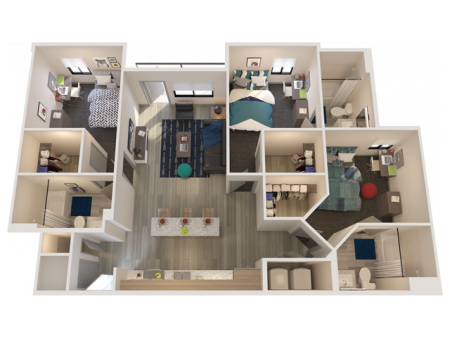 C1   3 bed 3 bath   from 1159 square feet