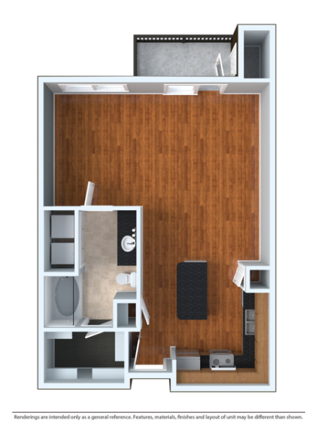 STDOU   Studio1 bath   from 665 square feet