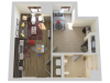 1X1 | 1 bed 1 bath | from 608 square feet