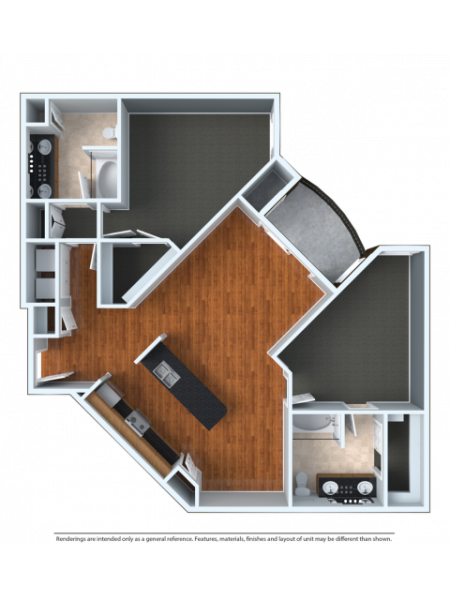2x2XL | 2 bed 2 bath | from 1280 square feet