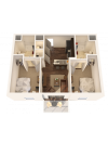 2X2   2 bed 2 bath   from 768 square feet