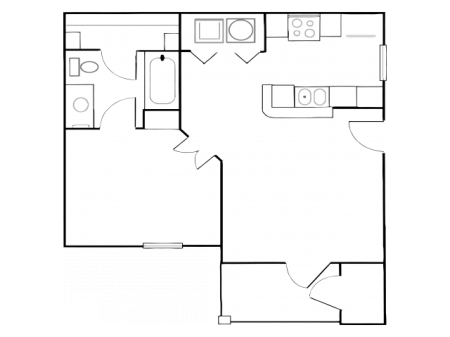 tt1-1u | 1 bed 1 bath | from 610 square feet