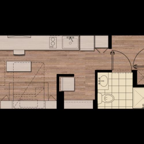 STDIO | Studio1 bath | from 266 square feet