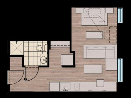 STDOL | Studio1 bath | from 358 square feet