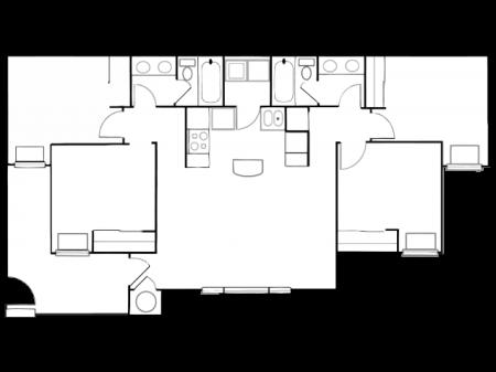 tt4-2u | 4 bed 2 bath | from 1200 square feet