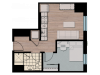 1X1 | 1 bed 1 bath | from 466 square feet