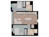 2X3D2 | 2 bed 2 bath | from 736 square feet