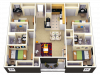 4X4 | 4 bed 4 bath | from 1220 square feet