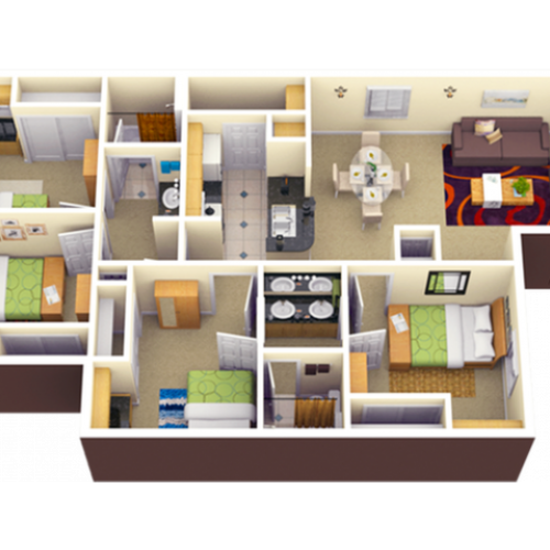4X2   4 bed 2 bath   from 1116 square feet