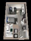 Studio | Studio1 bath | from 452 square feet