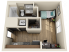 STDS2 | Studio1 bath | from 350 square feet