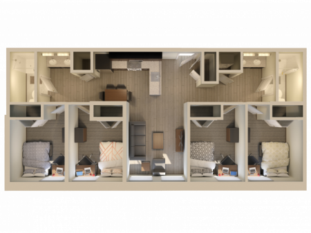 4X2   4 bed 2 bath   from 1032 square feet