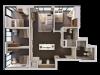 4 Bedroom Penthouse B | 4 bed 2 bath