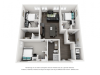3x3 | 3 bed 3 bath | from 1156 square feet