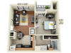 1X1A1 | 1 bed 1 bath | from 554 square feet