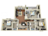 3X3C1   3 bed 3 bath   from 1089 square feet