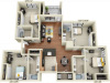 4X4D1   4 bed 4 bath   from 1364 square feet