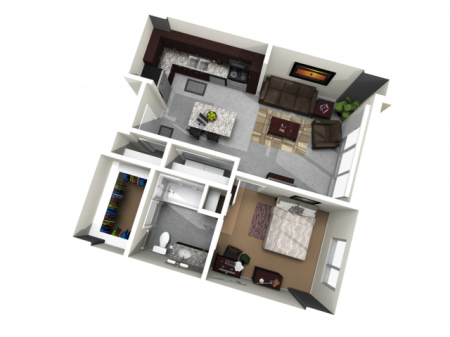 1X1   1 bed 1 bath   from 675 square feet