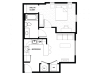 1x1 | 1 bed 1 bath | from 536 square feet