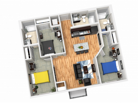 3X3A   3 bed 3 bath   from 1092 square feet