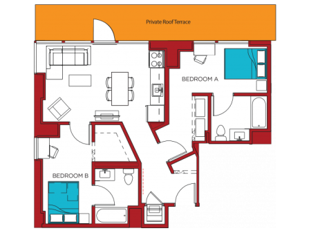 B1 | 2 bed 2 bath | from 845 square feet