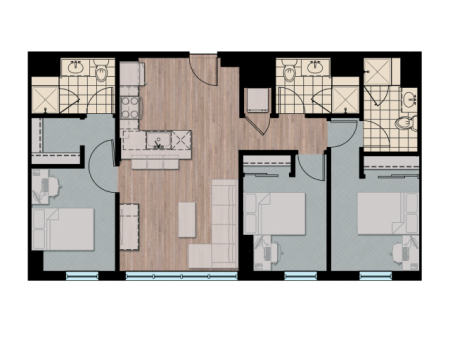 3X3 | 3 bed 3 bath | from 1249 square feet