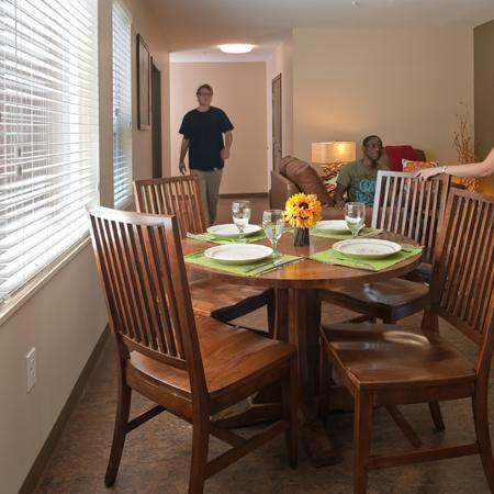 Residents Eating in the Dining Room
