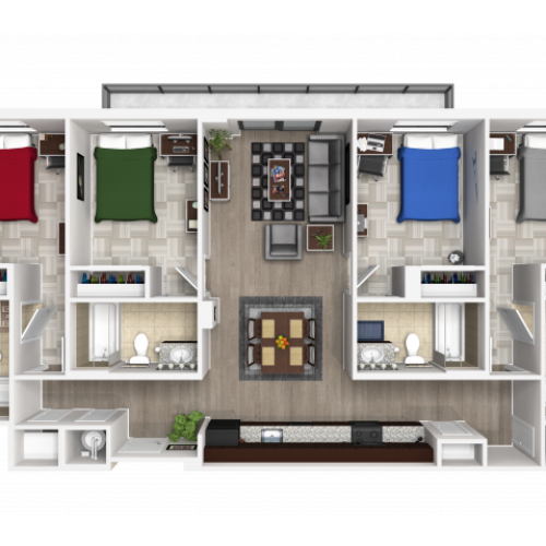 4X4G | 4 bed 4 bath | from 1300 square feet
