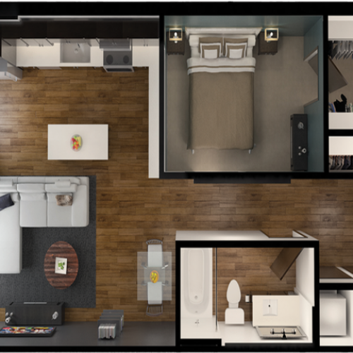 A4B | 1 bed 1 bath | from 687 square feet