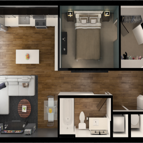 A7 | 1 bed 1 bath | from 683 square feet