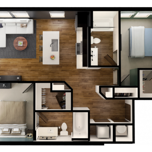 B1 | 2 bed 2 bath | from 939 square feet