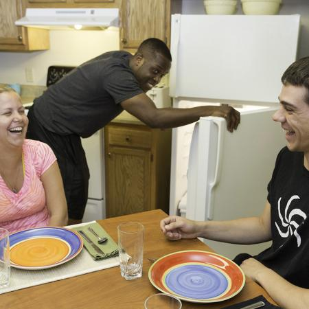 residents in kitchen
