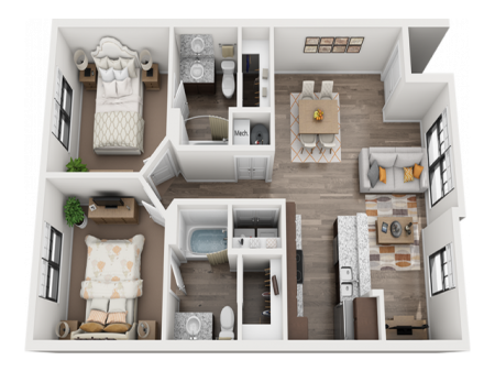 Two Step (B1) Furnished